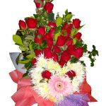 Valentines Heart Bouquet close