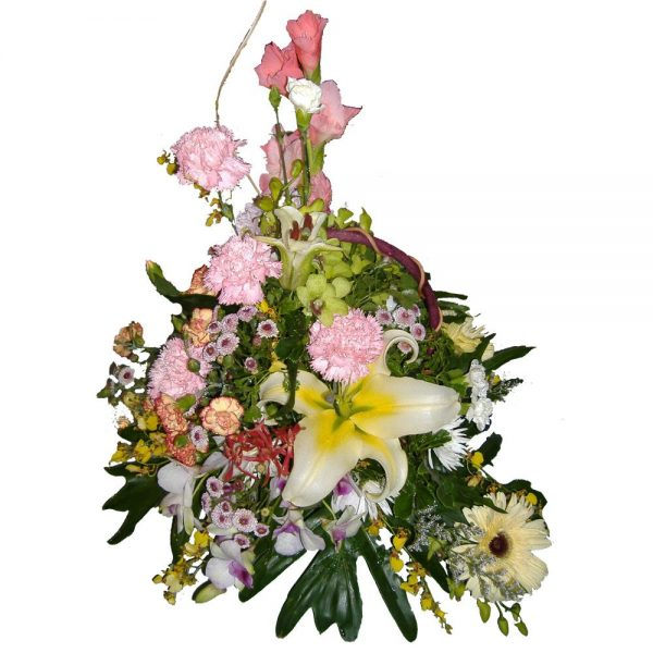 Large Lily in a mixed basket