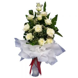 White Roses in a large bouquet