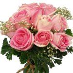 Pink Roses Vase close