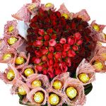Chocolates & Roses in a Heart close