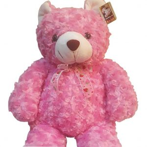 Cute Pink Teddy Bear approximately 40cm high, close up
