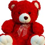 Red Teddy Bear close
