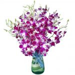 Purple Orchid Vase