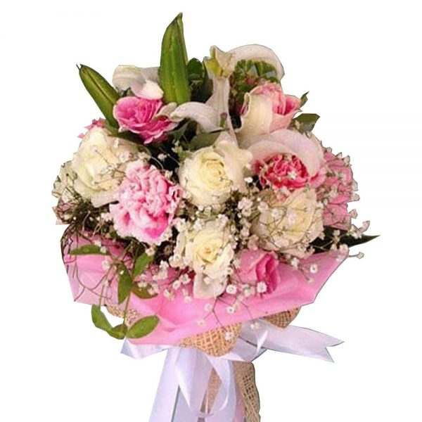 Lilies Carnations and Roses bouquet signature of Flowers By Jack - Koh Samui Florist
