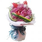 Pink Lotus Lily Bouquet