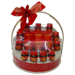 Gift basket with 11 Bottles of Scotch Essence Of Chicken